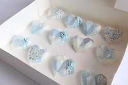 Blue Pastel Geo Hearts