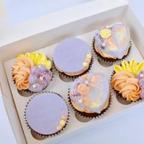 Spring Cake Heart Cupcakes
