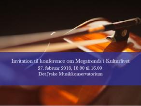 Invitation til konference om megatrends i kulturlivet