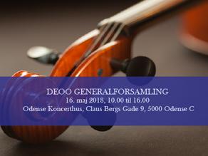 DEOO indkalder til ordinær generalforsamling