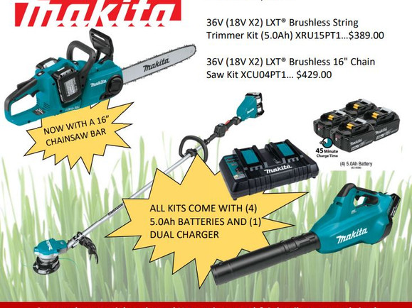 RULE THE OUTDOORS WITH OUR AMAZING DEALS ON MAKITA KITS