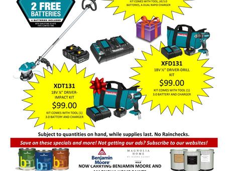 Gift a Makita kit this year!