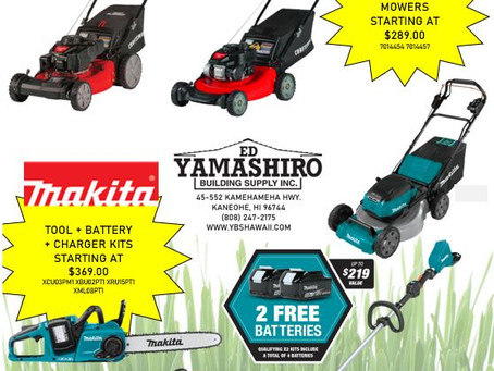 February is full of great savings and deals for outdoor power equipment!