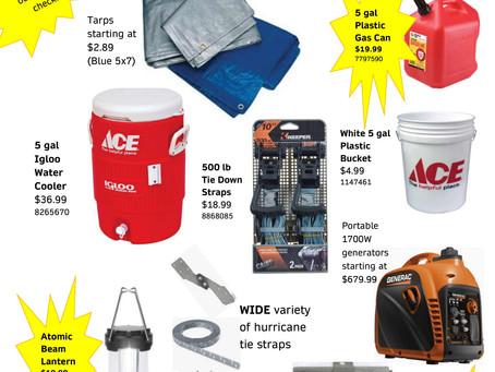 Stock up for hurricane season!