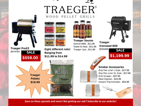 Now carrying Traeger rubs and accessories