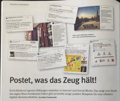 """Interview im Magazin """"Die Stiftung"""""""
