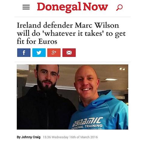 Republic of Ireland Defender with Matt Nuttall
