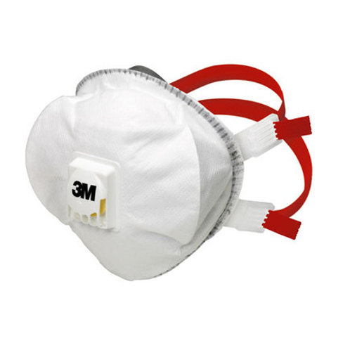3M Particulate 8835+ Cup Shaped Valved Disposable FFP3 Respirators