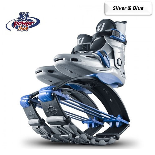 Silver & Blue -Kangoo Jumps Power Shoe       Child's Model 110lbs max
