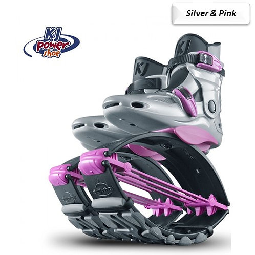 Silver & Pink - Kangoo Jumps Power Shoes Child's Model 110lbs max