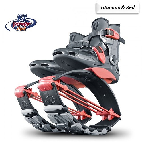 Titanium & Red - Kangoo Jumps Power Shoes Child's Model 110lbs max