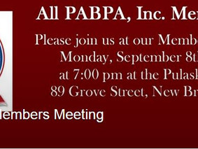 September 8th, 2014: PABPA, Inc. monthly Members Meeting