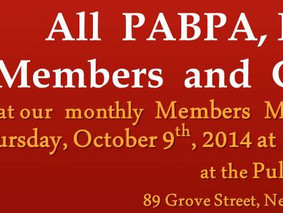 October 9th, 2014: monthly Members Meeting