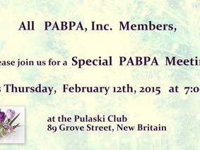 February 12, 2015:  PABPA, Inc.  Special Meeting