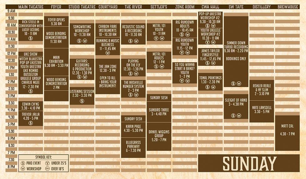 2021 Sunday Program