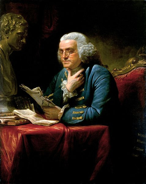 Benjamin Franklin par David Martin. Source: The White House Historical Association