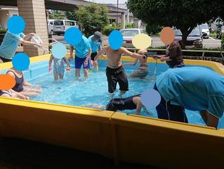 水遊びとスイカ割り🍉(六供)