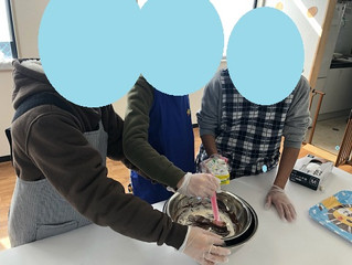 バレンタインチョコ作り🍫🍫(朝日)