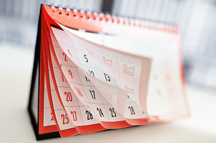 Months and dates shown on a calendar whilst turning the pages.jpg