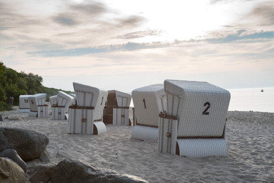 Beach Chairs on the beach in Germany Ost