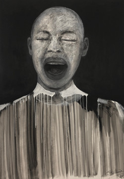 """Black and White Portrait"", 2019"