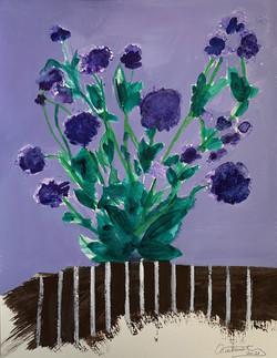 """""""Petites fleurs violettes"""", 2021"""