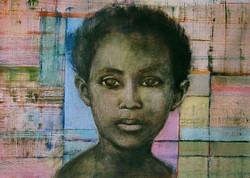 Enfant avec Fond Pastel,2009, Private collection