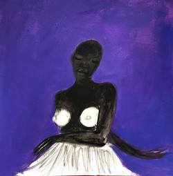 """""""Mouvement au fond violet"""", 2019"""