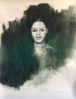 Portrait with green 2017