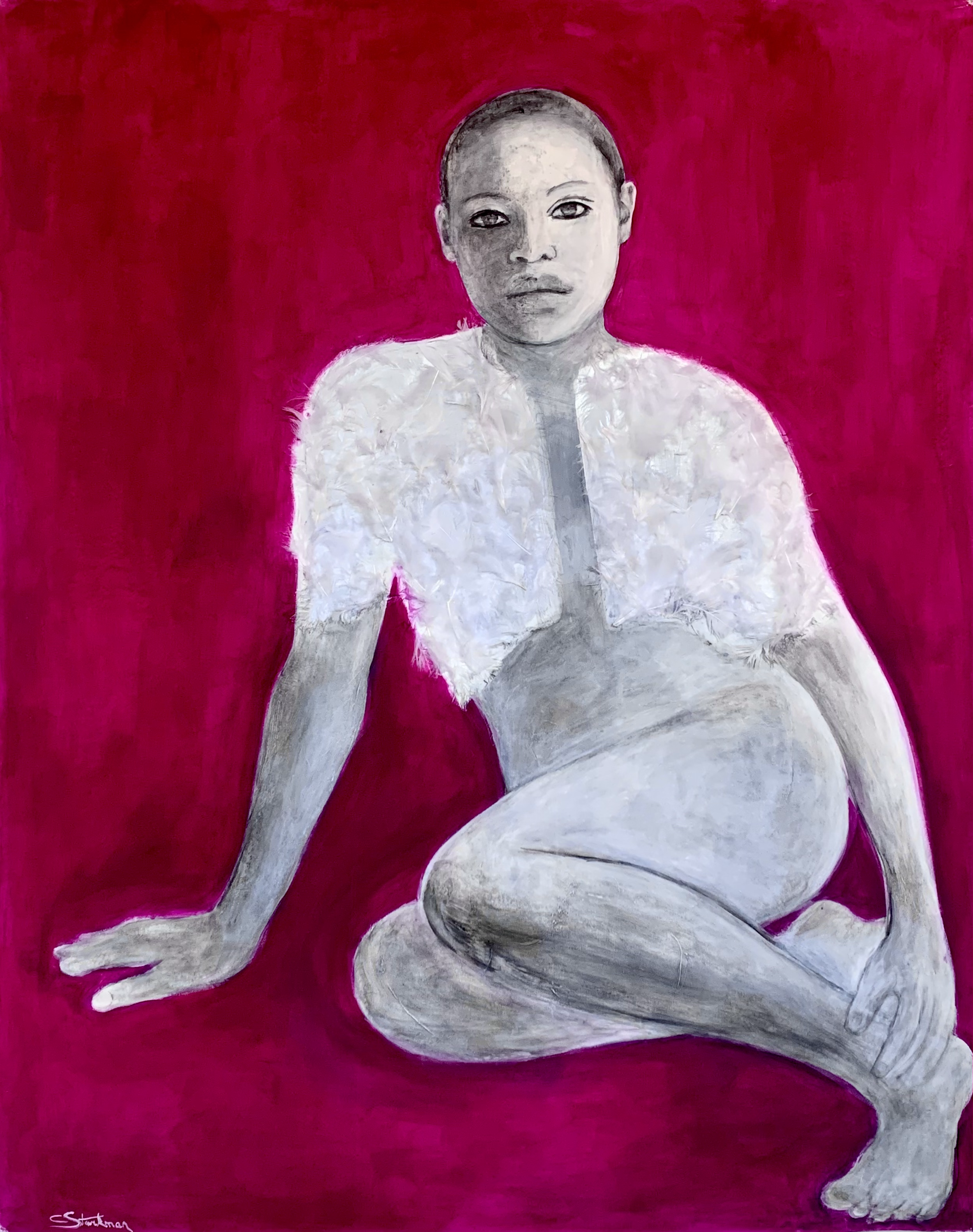 """""""Woman with strong pink"""", 2020"""