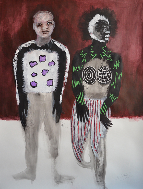 Couple with redish brown, 2017