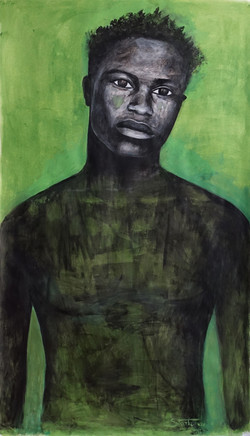 """""""Portrait with green""""2019"""