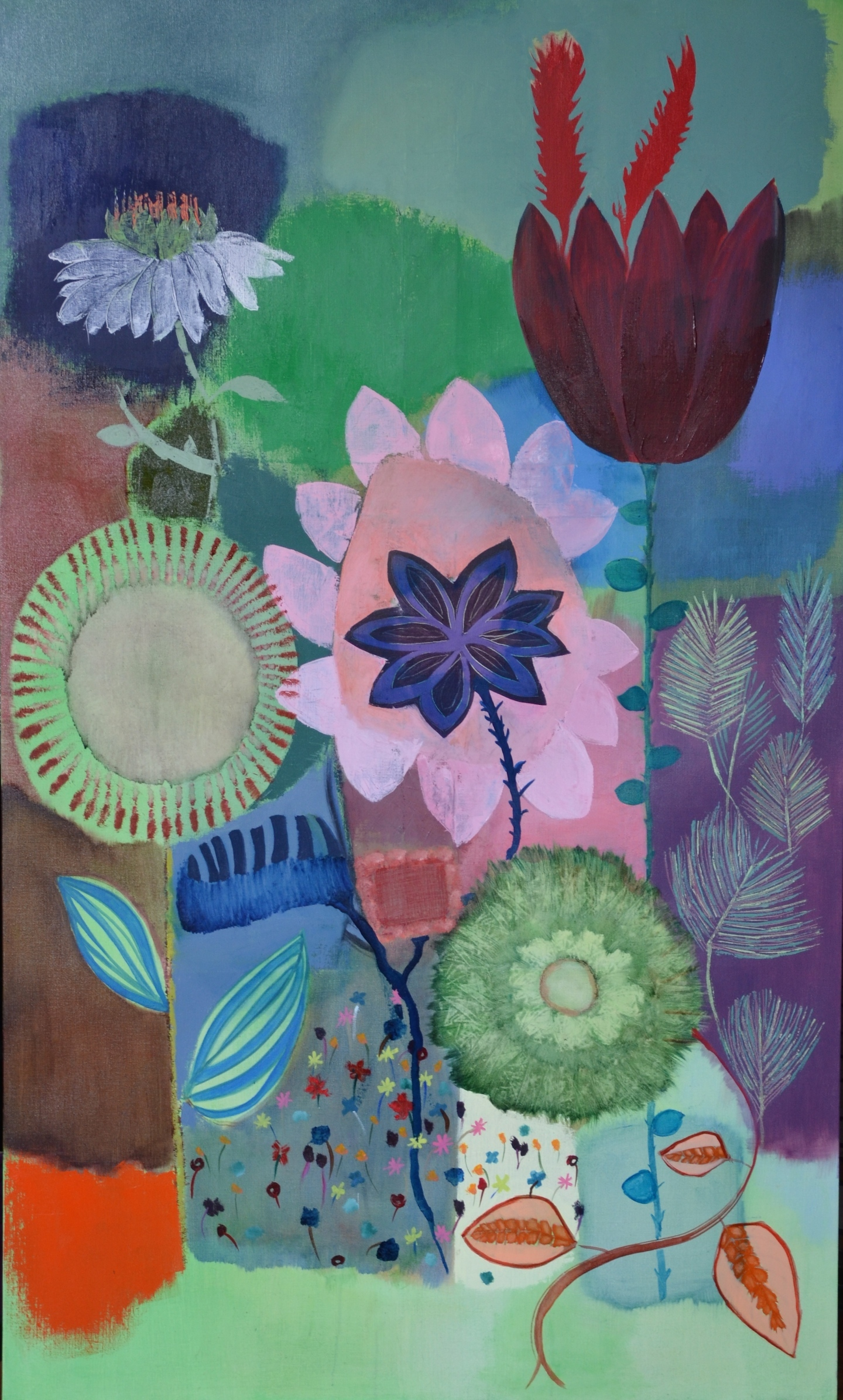 Fleurs, Vertical 2014, Private collection