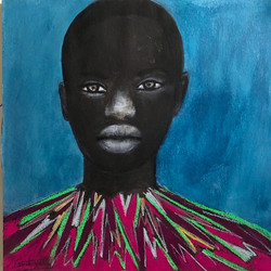"""""""Portrait au fond bleu"""" 2019"""