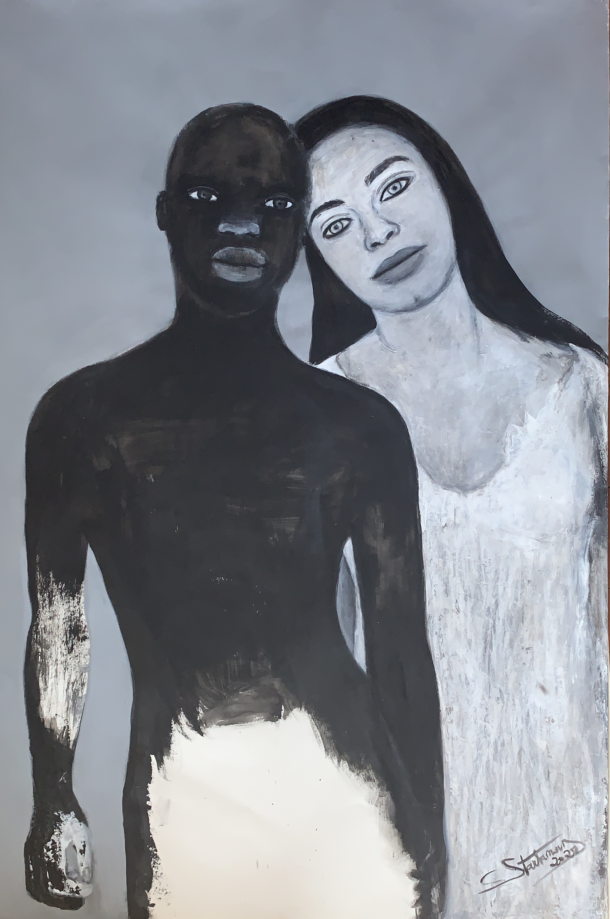 Couple with grey, 2020