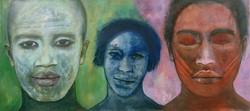 Trois têtes dont une au milieu, 2003