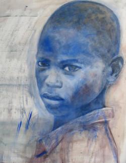 Jeune garçon bleu,2009, Private collection