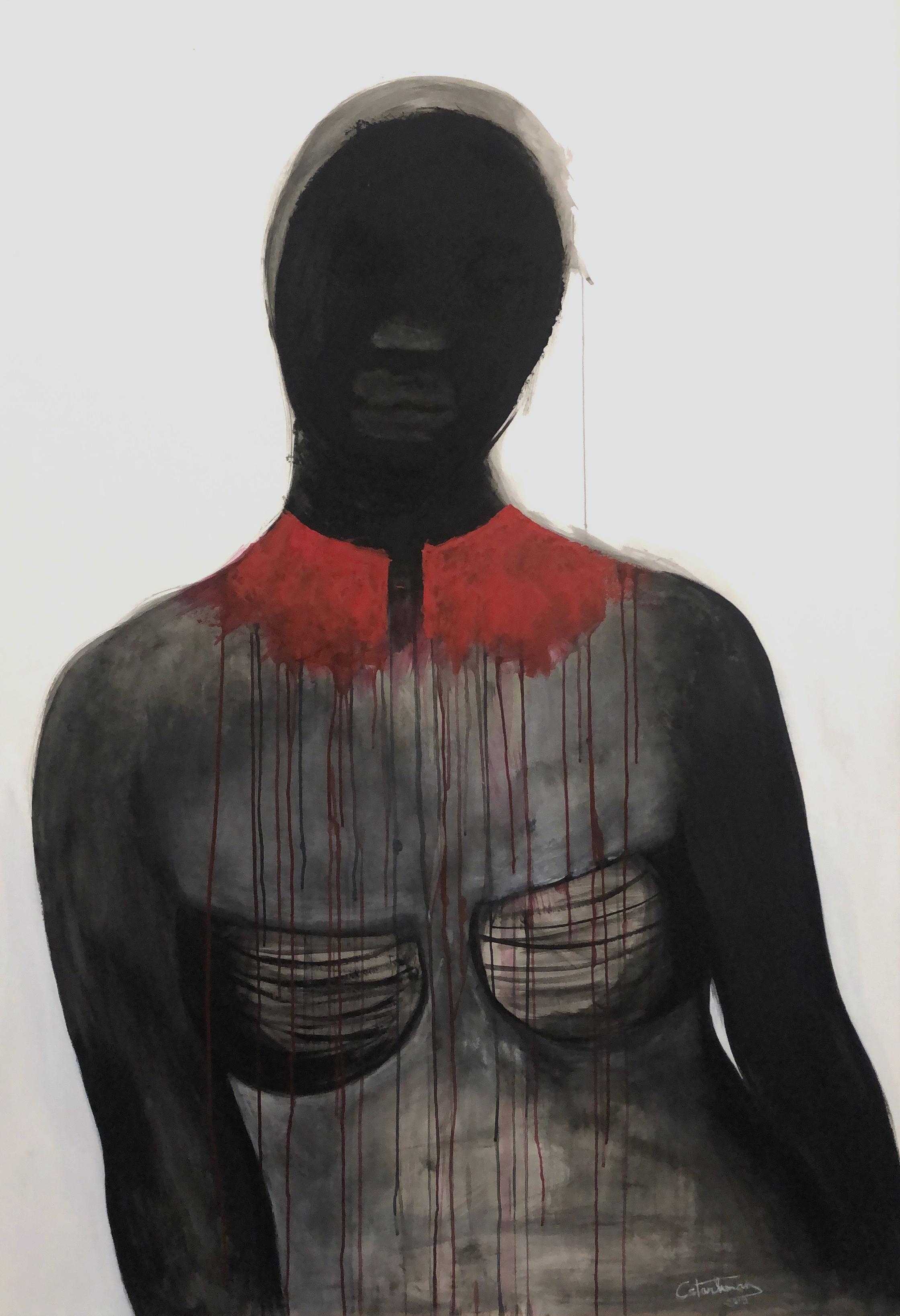 """La Femme au col écarlate"", 2019"
