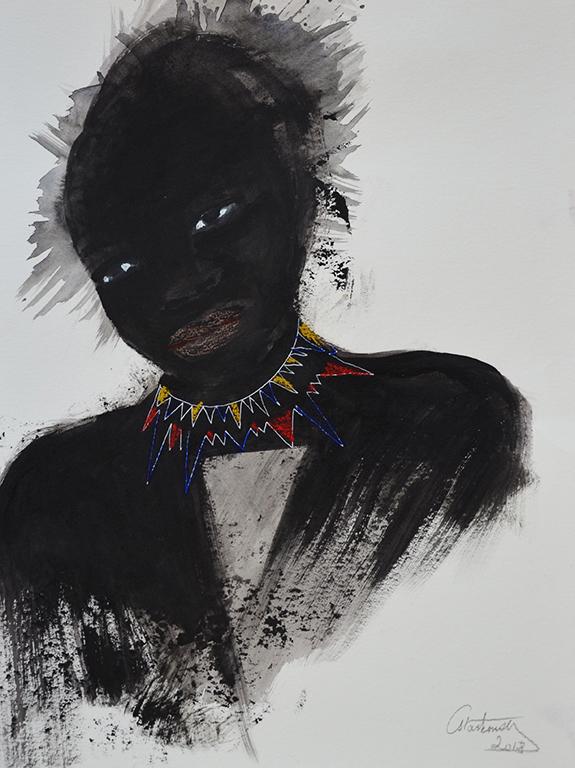 Jeune fille au collier,2018