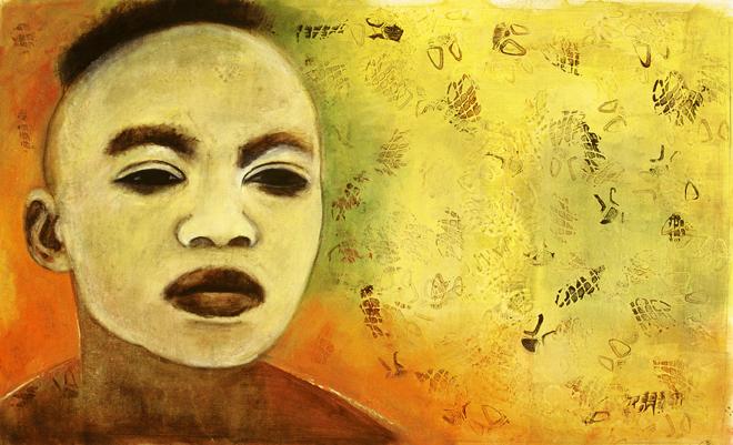 Visage masque Jaune, 2005