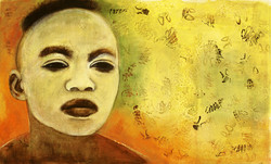Visage masque Jaune, 2005, Private collection Private collection