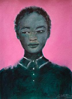 """La femme au fond rose"", 2021"