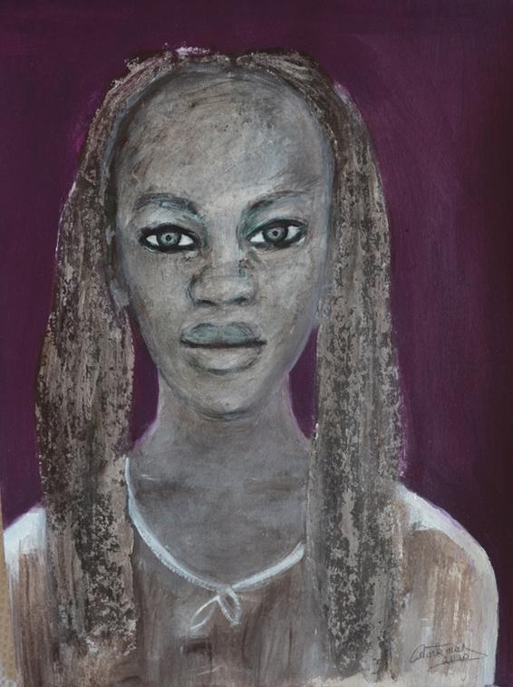 """""""Portrait au fond violet"""",2020"""