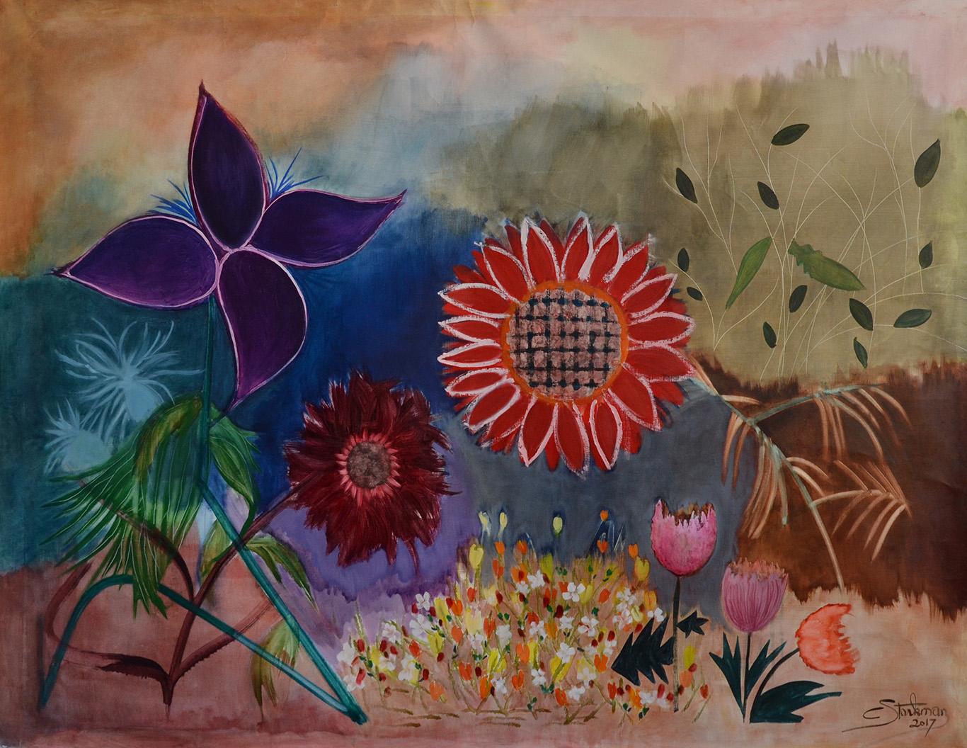 Petite musique de fleurs,2017, Private collection,