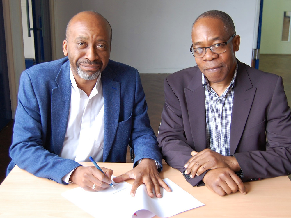 Councillor Joseph Ejiofor, Leader of Haringey Council and Chair of the Selby Trust committee, Mr Edward Ihejirika