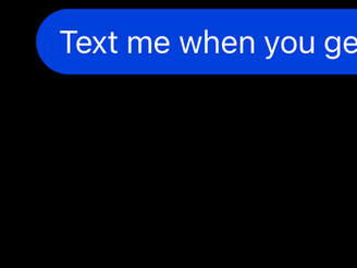 """""""Text me when you get home xx"""" is just the beginning..."""