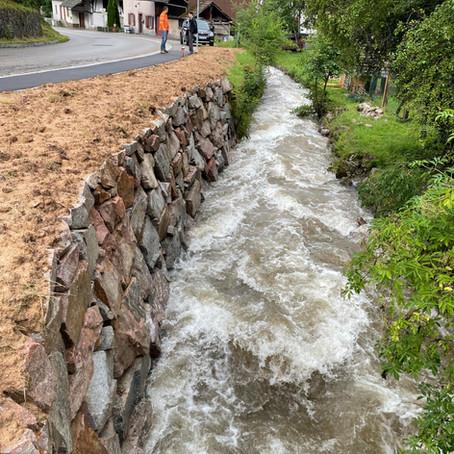 Erneuerung Bachmauer Malsburg 2021