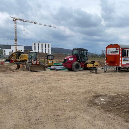 Bau einer Industriehalle Glatt Binzen 2021