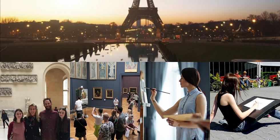 Plein air painting in Paris, summer workshop 2021