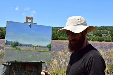 More painting photos from the Lavender fields near Sault